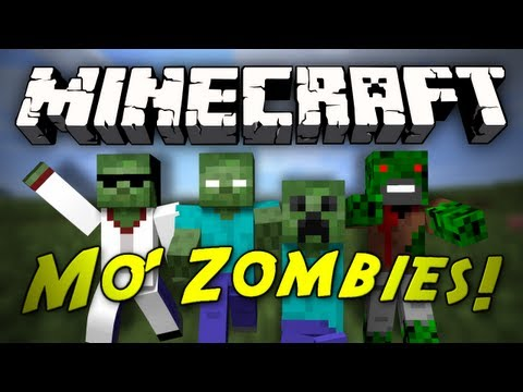 Minecraft Mod Showcase: Mo' Zombies Mod! [1.3.2] (ZOMBIE HEROBRINE, ZOMBIE NOTCH!)