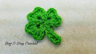 Learn How To #Crochet Shamrock Three leaf Clover St. Patricks Day TUTORIAL #369
