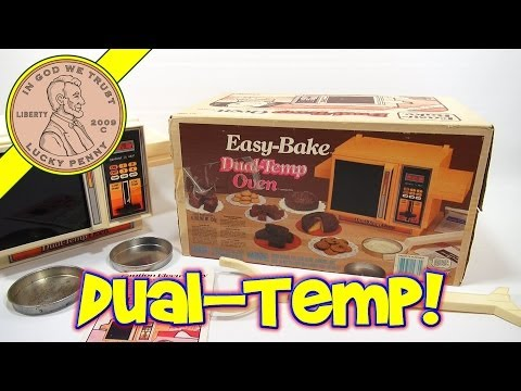 1986 Easy Bake Dual-Temp Oven. Kenner Toys - Cinnamon Coffee Cake and Biscuits!