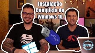 Como formatar o computador com o PEN DRIVE - Windows 10