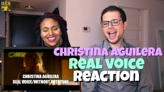 Download Lagu Christina Aguilera - Real Voice Reaction Gratis STAFABAND