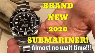 Got my 2020 ROLEX submariner TODAY - Waitist MYTH?