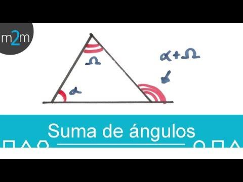 Suma de dos ángulos interiores igual a uno externo
