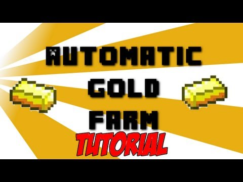 Automatic Gold Farm Tutorial 1.8 READY Minecraft SMP Friendly