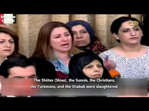 @New@ IRAQI YAZIDI MP  WE ARE BEING SLAUGHTERED UNDER THE BANNER OF  THERE IS NO GOD BUT ALLAH  7 08