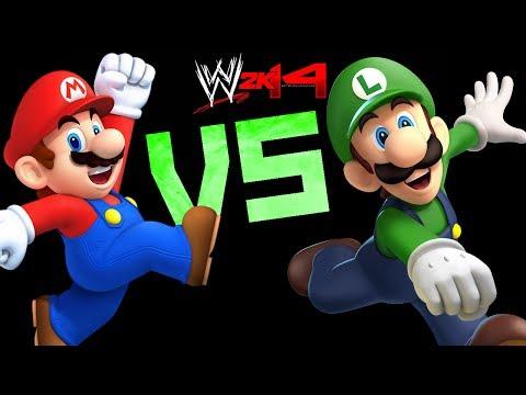 WWE 2K14: Mario VS Luigi [FR//HD]