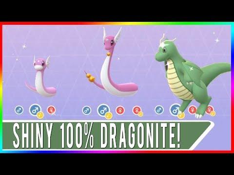 OMG YASSSS! PERFECT SHINY DRAGONITE SECURED! SHINY 100% IV DRAGONITE IN POKEMON GO! SHINY DRATINI