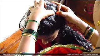 ILHW Rapunzel Sultana's Front Nit Picking From Her Oiled Thigh Length Thick Hair By Her Aunt