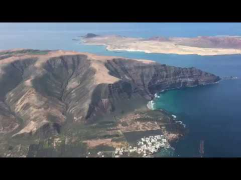 Landing at Lanzarote (Canary Islands) HD