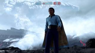 Star Wars Battlefront - Lando's Unlimited Power Blast Glitch | take down both AT-AT's in 2 rounds!