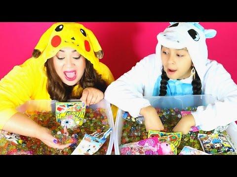 ORBEEZ CHALLENGE! Pikachu Vs Unicorn|B2cutecupcakes