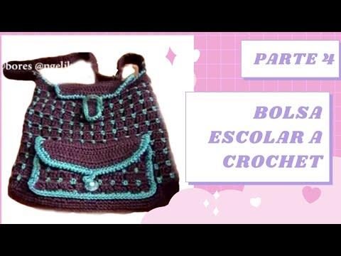 Bolsas tejidas a crochet con arillos de latas - Imagui