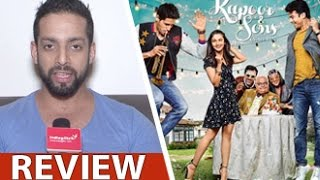 Kapoor & Sons Review by Salil Acharya | Sidharth Malhotra, Alia Bhatt, Fawad | Full Movie Rating
