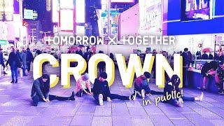 [KPOP IN PUBLIC] TXT (투모로우바이투게더) - CROWN (어느날 머리에서 뿔이 자랐다) in Times Square | miXx TV