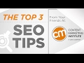 Top 3 SEO Tips for 2017