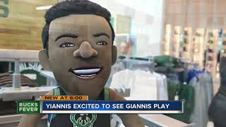 We found Yannis at the Milwaukee Bucks Pro Shop (no, not that Giannis)