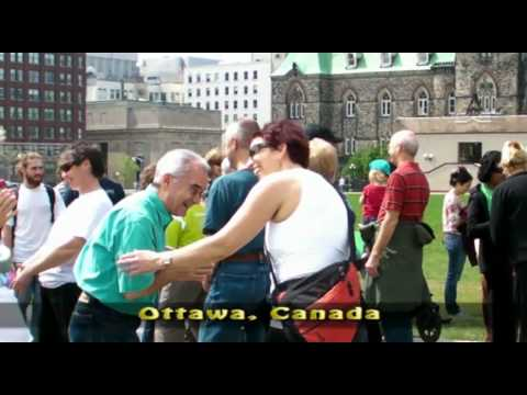 Laughter Yoga on Parliament Hill ottawa 2010, Ontario, Canada World Laughter Day