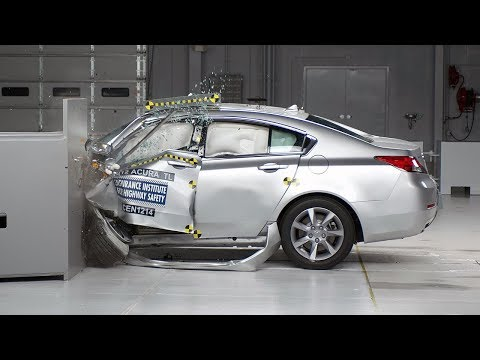2012 Acura TL small overlap test