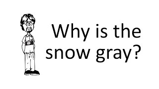 Ask David: The Snow in my Photos is Gray?