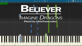 Download Lagu Imagine Dragons - Believer (Piano Cover) by LittleTranscriber Gratis STAFABAND