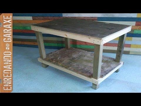 Mesa de trabajo sencilla como hacerla simple work table youtube Como construir una mesa