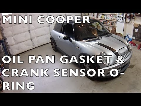 Replace MINI Cooper oil pan gasket (& crank sensor o-ring) R50 R52 R53