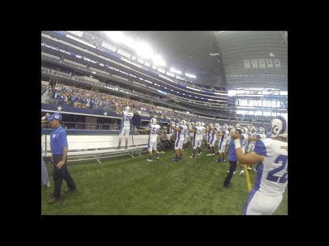 Los Borregos Salvajes saliendo al emparrillado del AT&T Stadium