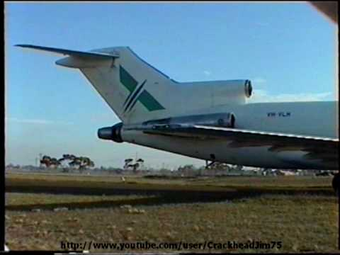 Boeing 727 VH-VLH of Australian Air Express starts up at Tullamarine and sets off for some training flights at Avalon.