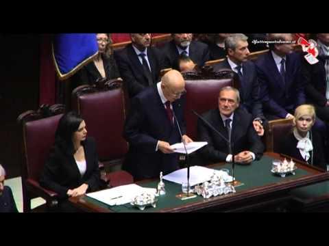 Il giuramento di Napolitano: il discorso integrale (22/04/2013)