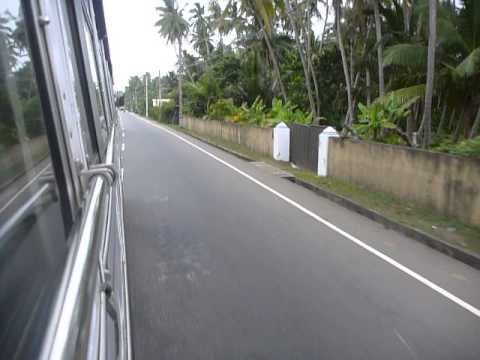 Sri Lanka,ශ්‍රී ලංකා,ceylon,bus Ride,reckless Driver As Usual. video