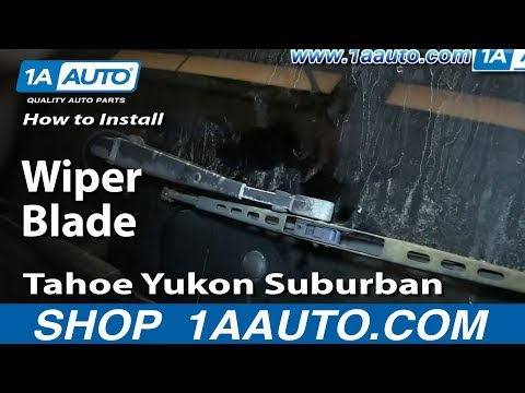 How To Install Replace Rear Wiper Blade 1994-99 Chevy GMC Tahoe Yukon Suburban