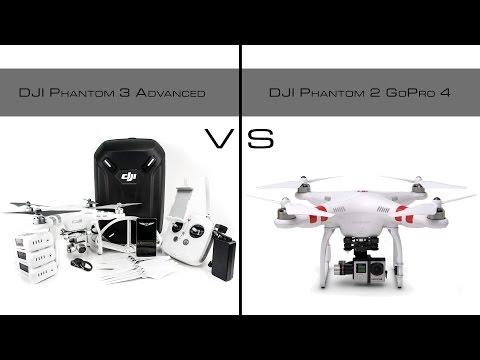 DJI Phantom 3 Advanced vs Phantom 2 With GoPro Hero 4 Black   Drone Comparison in 4K