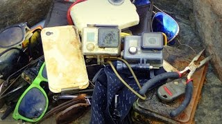 River Treasure: 2 GoPros, iPhone, Camera, Wallet with Cash, Raybans And MOAR!