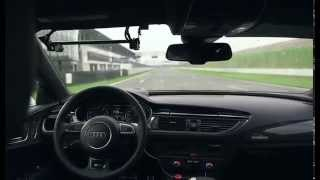 Audi RS 7 Piloted Driving On the Race Track Cool!!!
