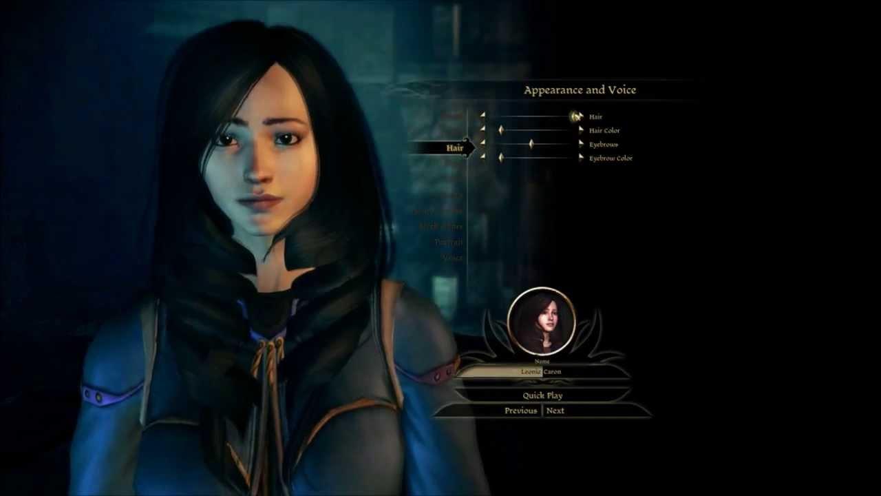 Dragon Age Origins Characters Creation in Dragon Age Origin