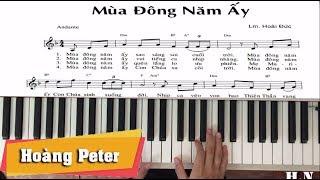 Hướng dẫn đệm piano: Mùa Đông Năm Ấy - by Hoàng Peter