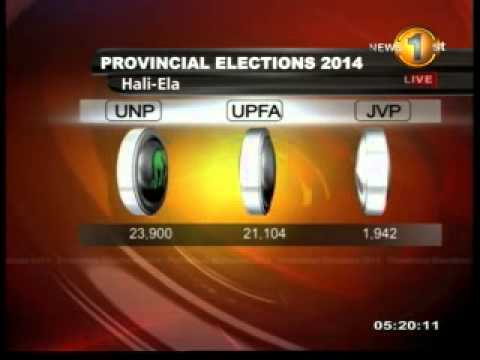 Hali-Ela - Badulla District - Election Results 2014