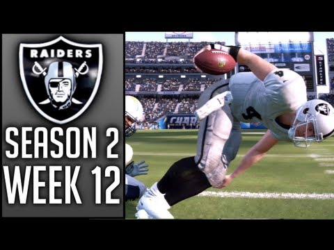 Madden 13 RAIDERS CCM: Week 12 @ Chargers (Season 2) - Connected Careers