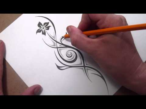 Little Flowers Drawing Drawing a Tribal Flower And