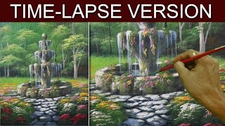 Time-Lapse Version | The Old Fountain | Acrylic Painting by JM Lisondra