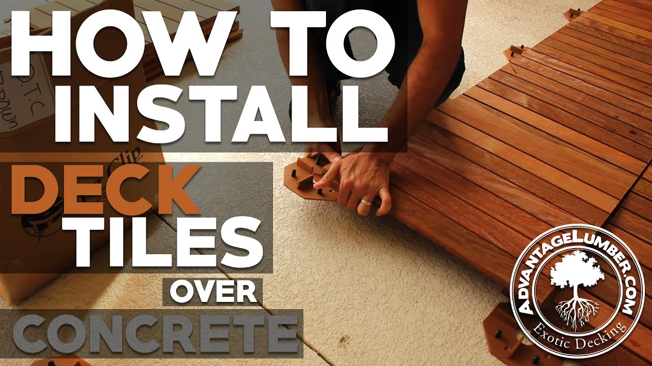How Install Deck Tiles Over Concrete Youtube