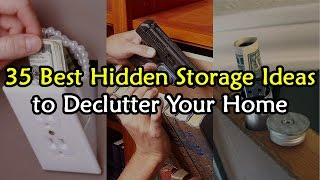 35 Best Hidden Storage Ideas to De-Clutter Your House