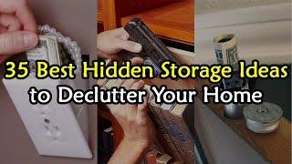 35 Best Hidden Storage Ideas to De-Clutter Your House