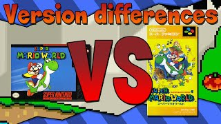 Version Differences - Super Mario World
