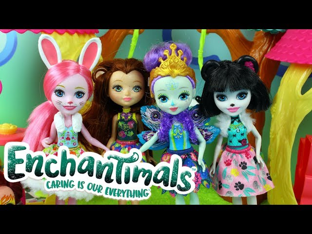 Enchantimals • Leśny Domek & Kolekcja Laleczek • Mattel • Openbox
