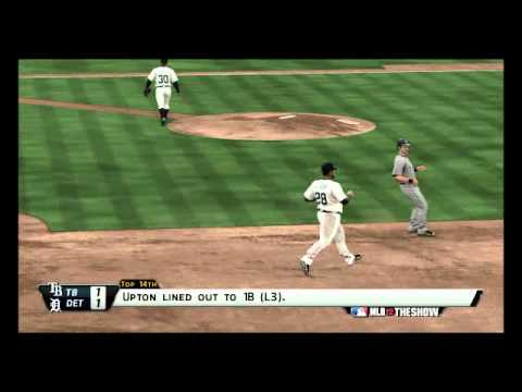 MLB 12 The Show: Tampa Bay Rays @ Detroit Tigers Highlights Game 5/162
