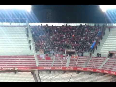 Standard Liege supporters at Sevilla FC's Ramón Sánchez Pizjuán Stadium