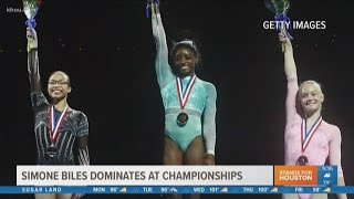 Simone Biles sweeps USA Gymnastics National Championships