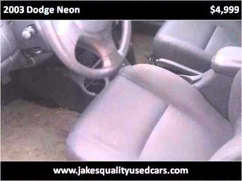 2003 Dodge Neon Used Cars Tacoma WA