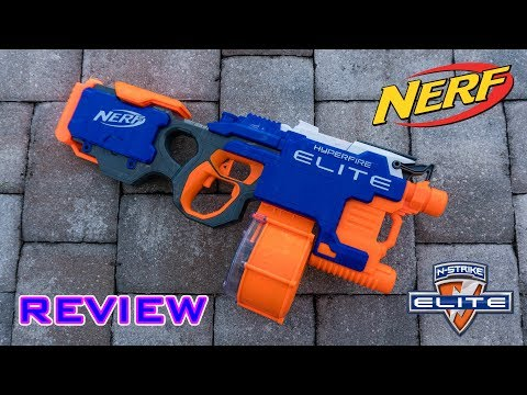 [REVIEW] Nerf Elite Hyperfire Unboxing. Review. & Firing Test